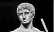 Cabeza del Doriforo de Policleto. Policleto Escultor Griego Clasico. Grecia. Turismo en Grecia.