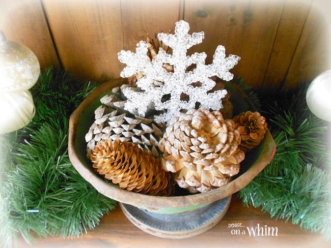 Pincones in a Rusty Green Bowl from Denise on a Whim