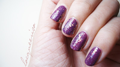 Lacqueerisa - Glitter over Purple polish
