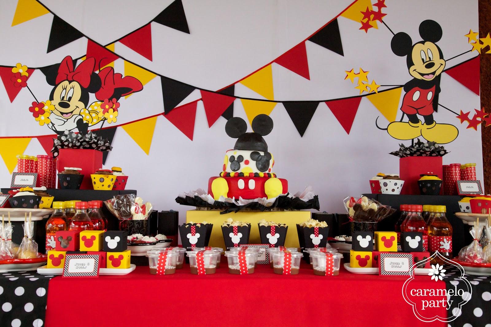 Caramelo party fiesta de mickey y minnie mouse - Adornos fiesta de cumpleanos ...