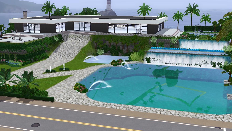 The sims giuly download e tutorial di the sims 3 villa for Maison sims 4 piscine