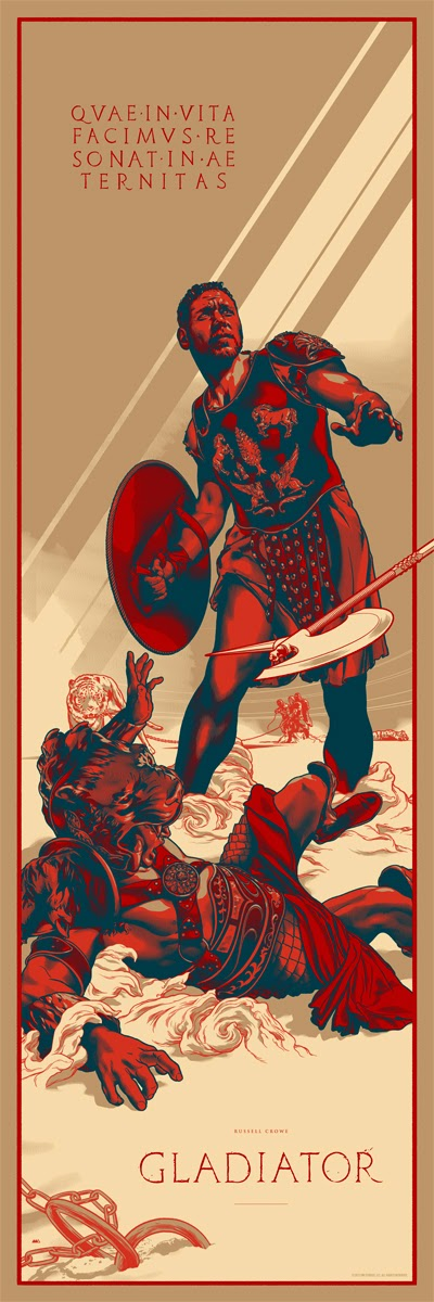 Gladiator Standard Edition Screen Print by Martin Ansin