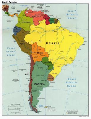 Amerique du Sud Carte Avec Pays