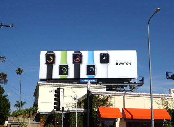 Apple Watch billboard