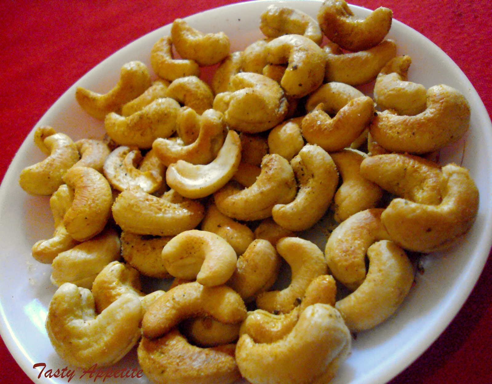 Roasted Spiced Cashew Nuts / Healthy Snack Recipes