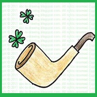 smoke pipe, how to draw smoke pipe, St. patrick's day