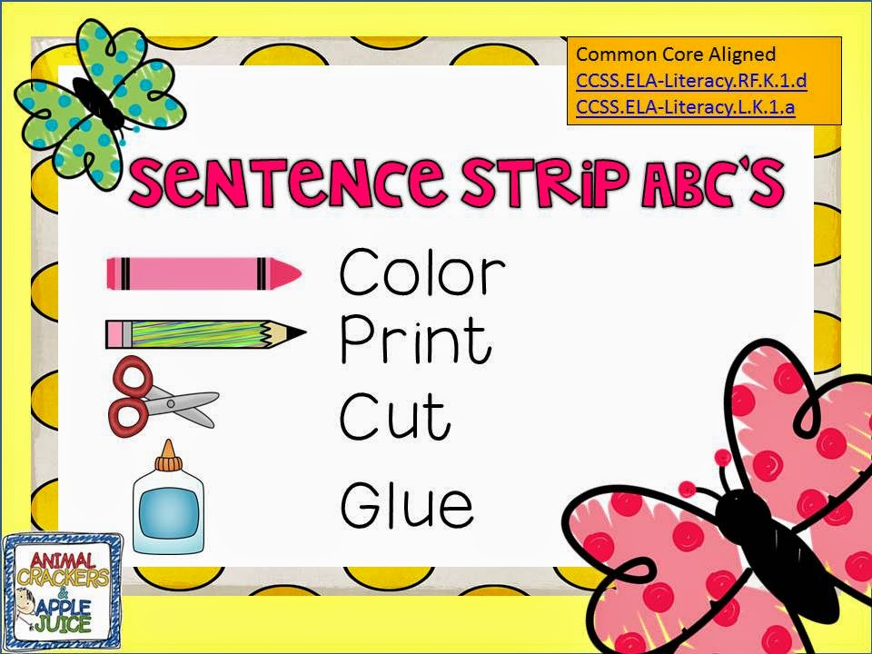 http://www.teacherspayteachers.com/Product/Sentence-Strip-ABCs-1218578