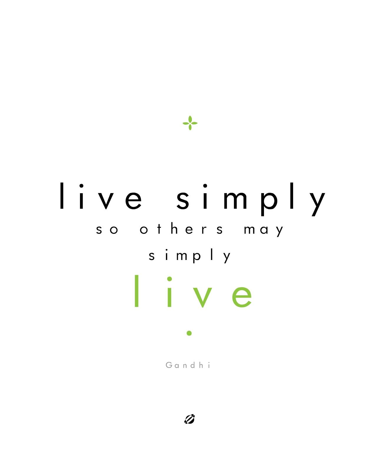 LostBumblebee 2013 Live Simply-Ghandi- FREE PRINTABLE
