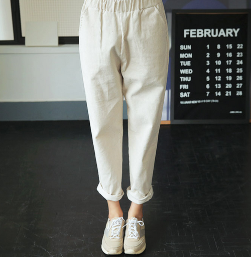 Loose Fit Corduroy Pants