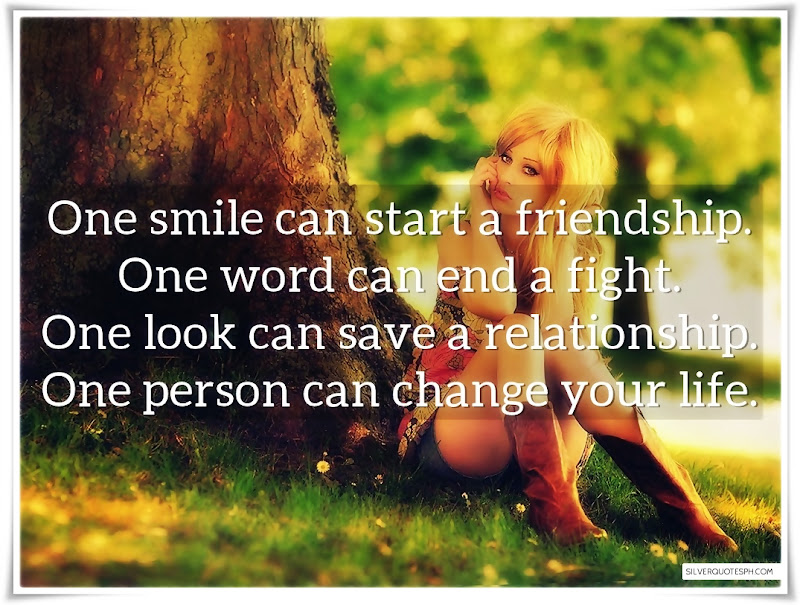 One Smile Can Start A Friendship, Picture Quotes, Love Quotes, Sad Quotes, Sweet Quotes, Birthday Quotes, Friendship Quotes, Inspirational Quotes, Tagalog Quotes