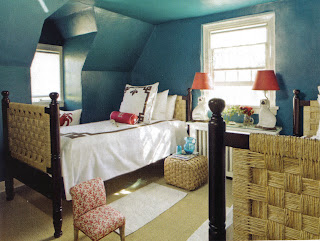 Teal Painted Bedroom Walls