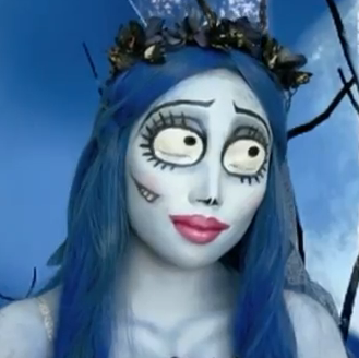 emily corpse bride Halloween makeup style for girls
