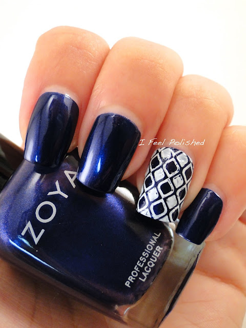 Konad Lattice Stamp Nail Art