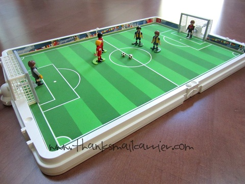 Playmobil soccer game