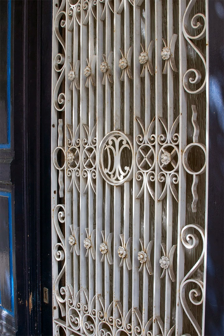 large white window grille