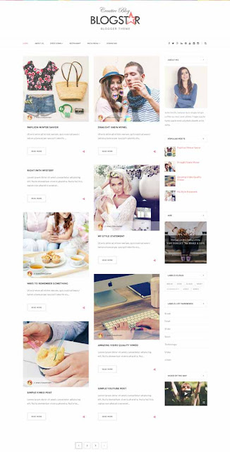 BlogStar ( Free Responsive Blogger Template)