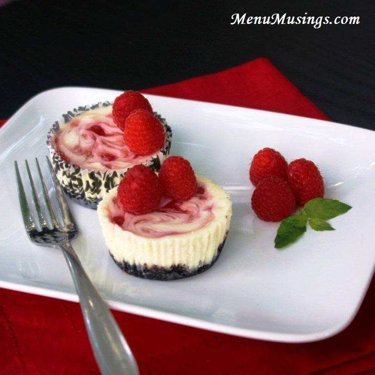 ... Musings of a Modern American Mom: Raspberry Swirl Cheesecake Minis