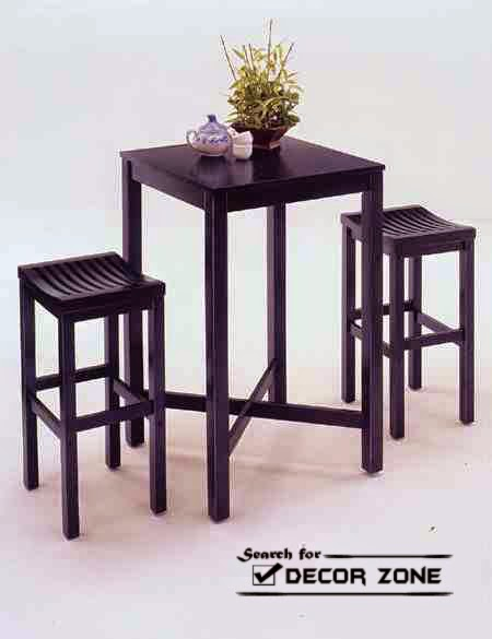 Square Kitchen Table Sets With Stools For Small Kitchens