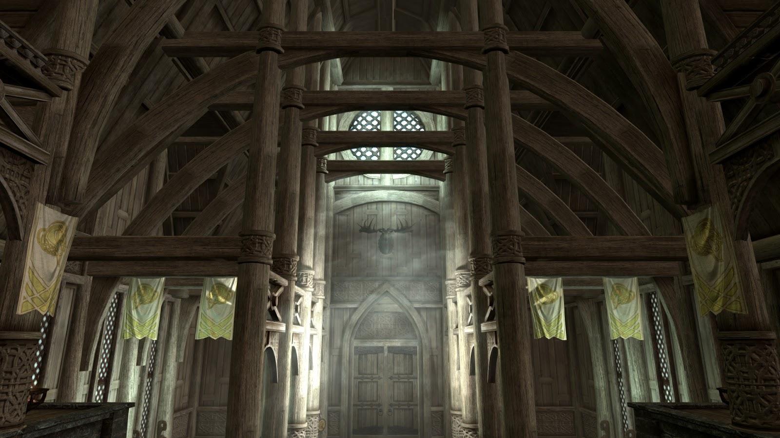 The art of architecture skyrim dragonsreach