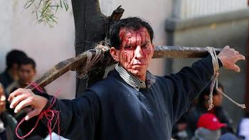 crucificado. preso en Chunchucoro por falta de alimentos para subsistir