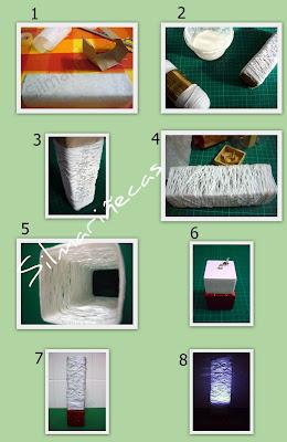 cómo hacer una lámpara de hilo tipo random light