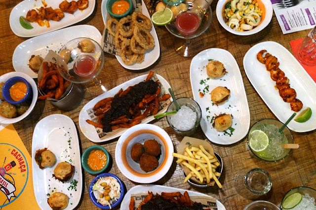 Cabana London Brasilian food flatlay