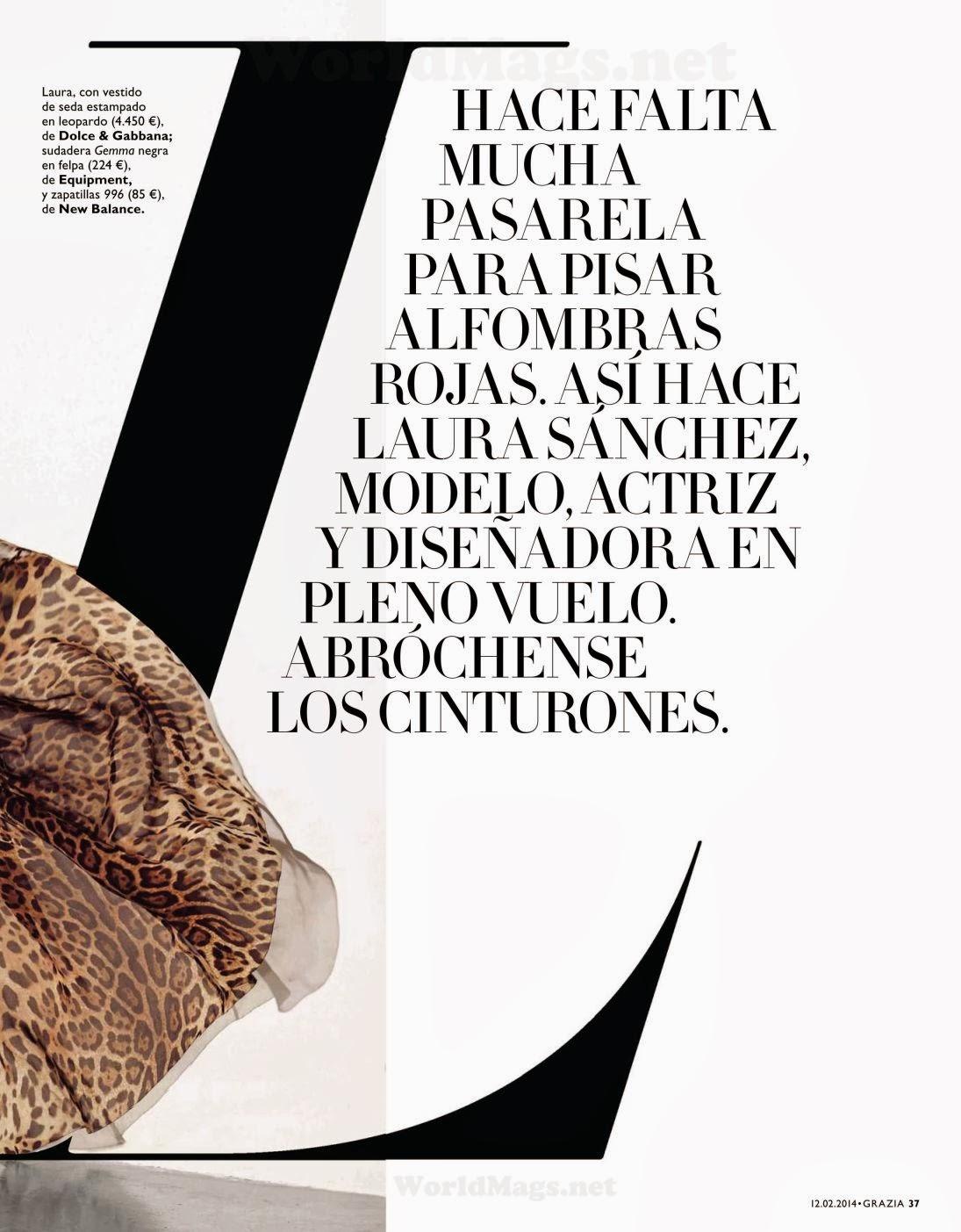 Laura Sanchez HQ Pictures Grazia Spain Magazine Photoshoot February 2014