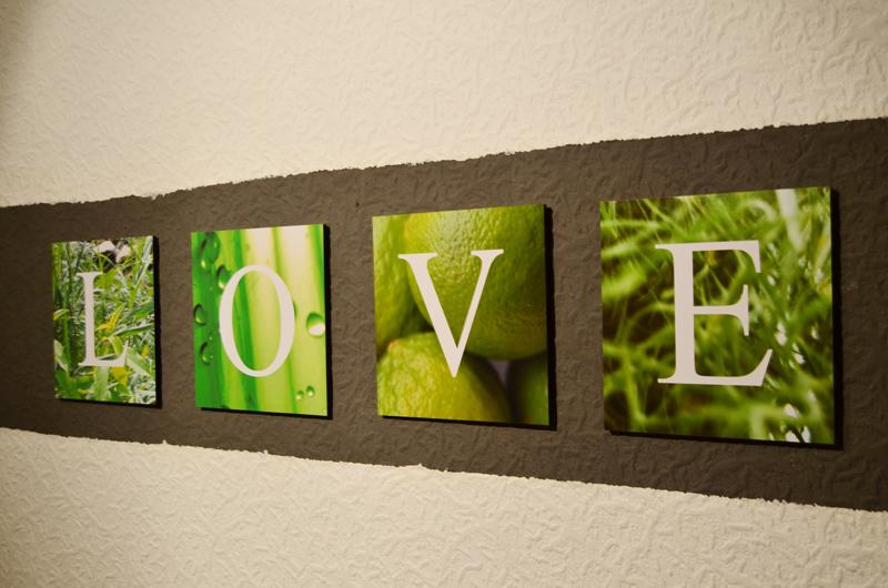 LOVE – Leinwände mit Liebe