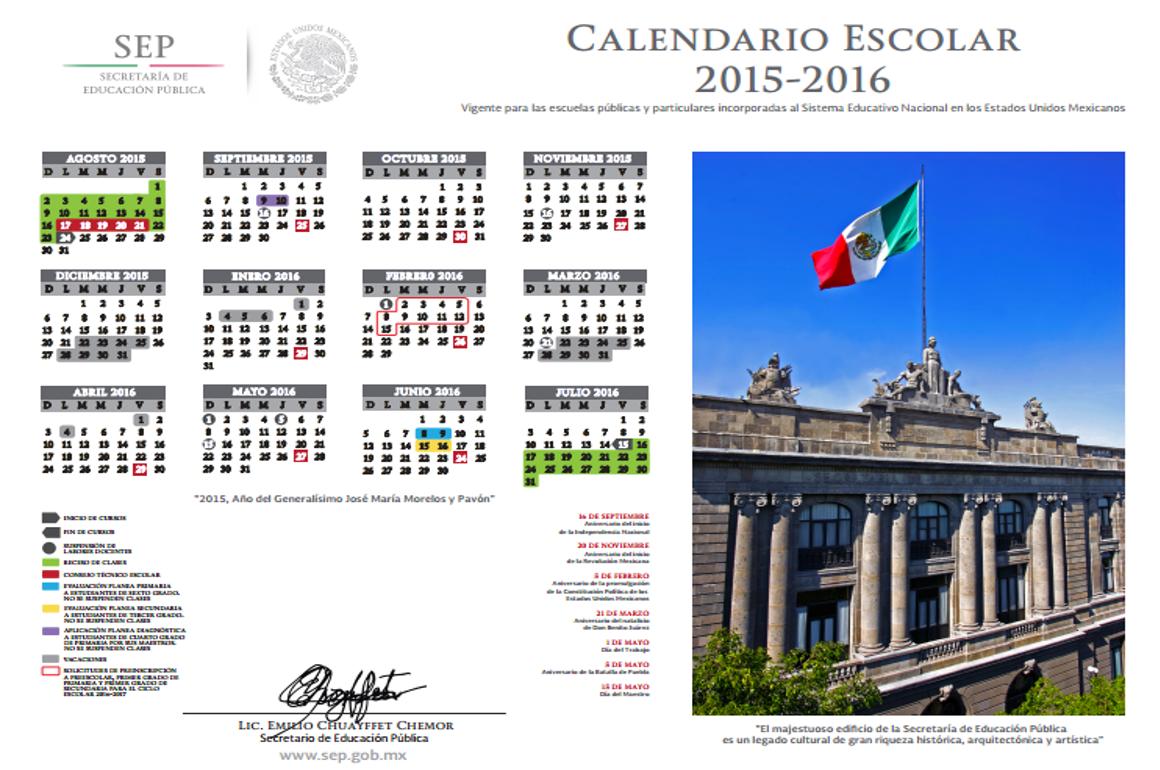 Calendario Oficial Sep 2016 17 | newhairstylesformen2014.com