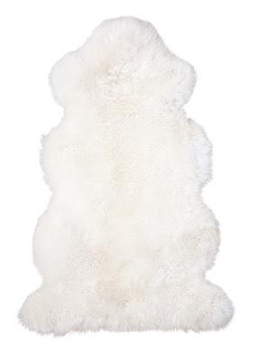 weißes Lammfell