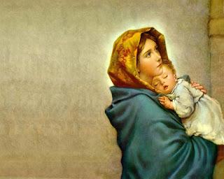 Wallpaper Bunda Maria Menggendong Yesus