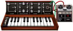 Doodle de Google: Robert Moog 23 de mayo 2012 sintetizador virtual