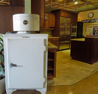Early Refrigerator on Display at Idler's Appliances in Paso Robles.