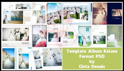 Template Album Kolase Format PSD Volume-3