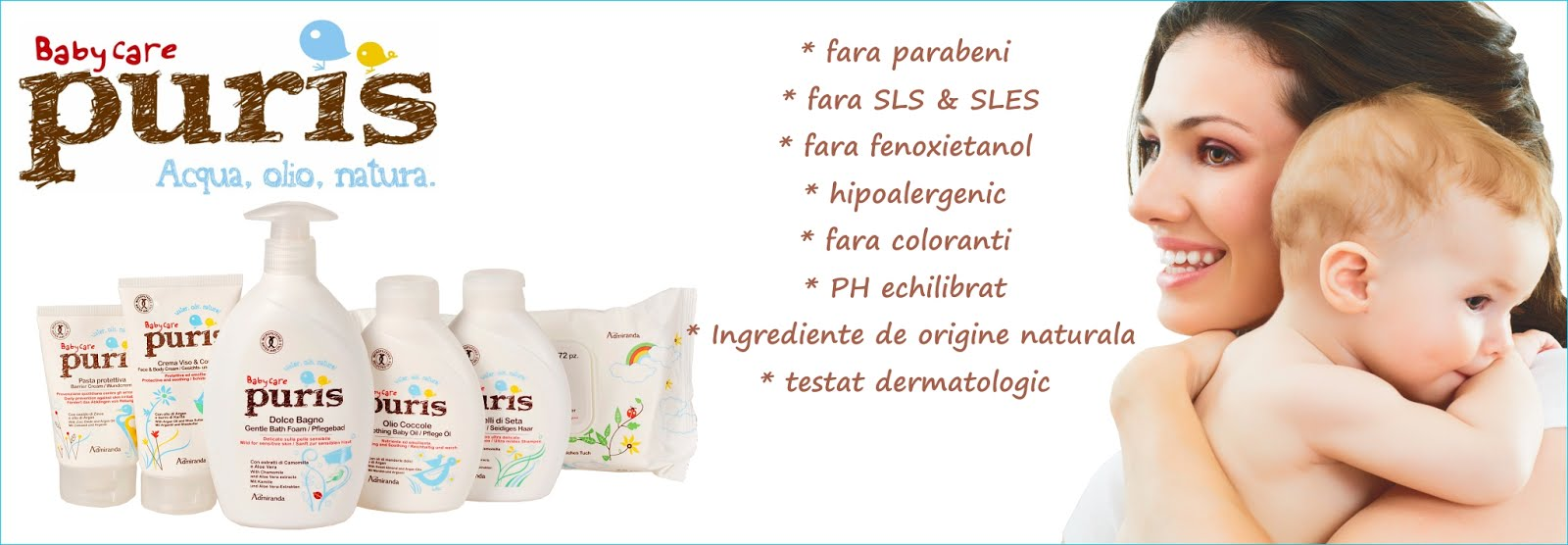 Cosmetice naturale pentru bebelusi