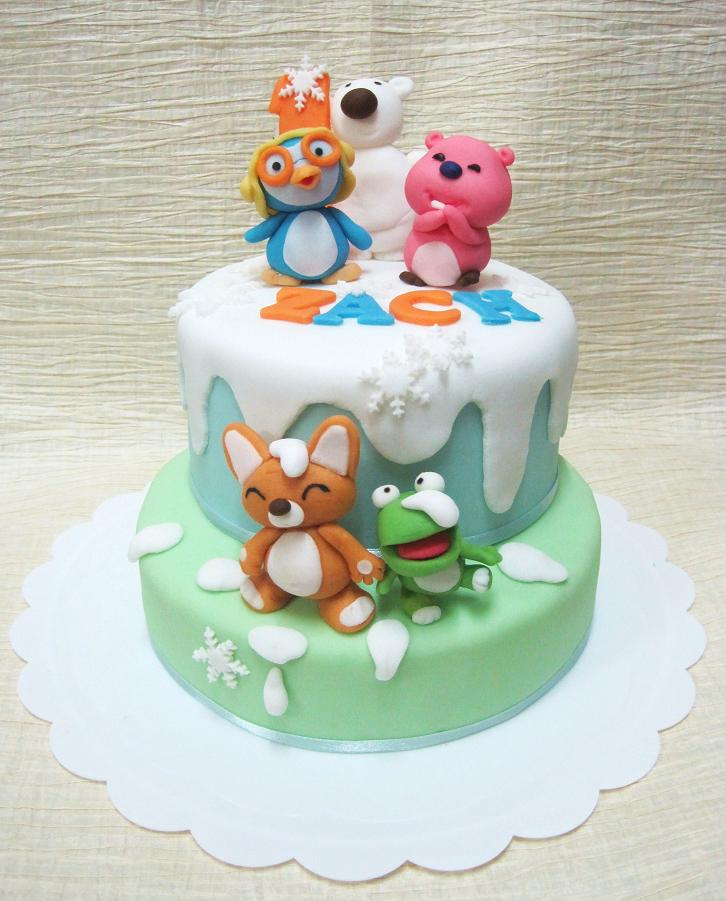 Mom And Daughter Cakes Pororo Cake For 1 Year Old Zach