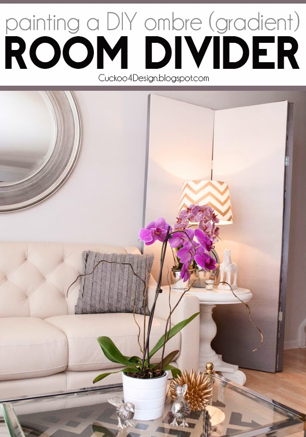 painting DIY gradient ombre room divider
