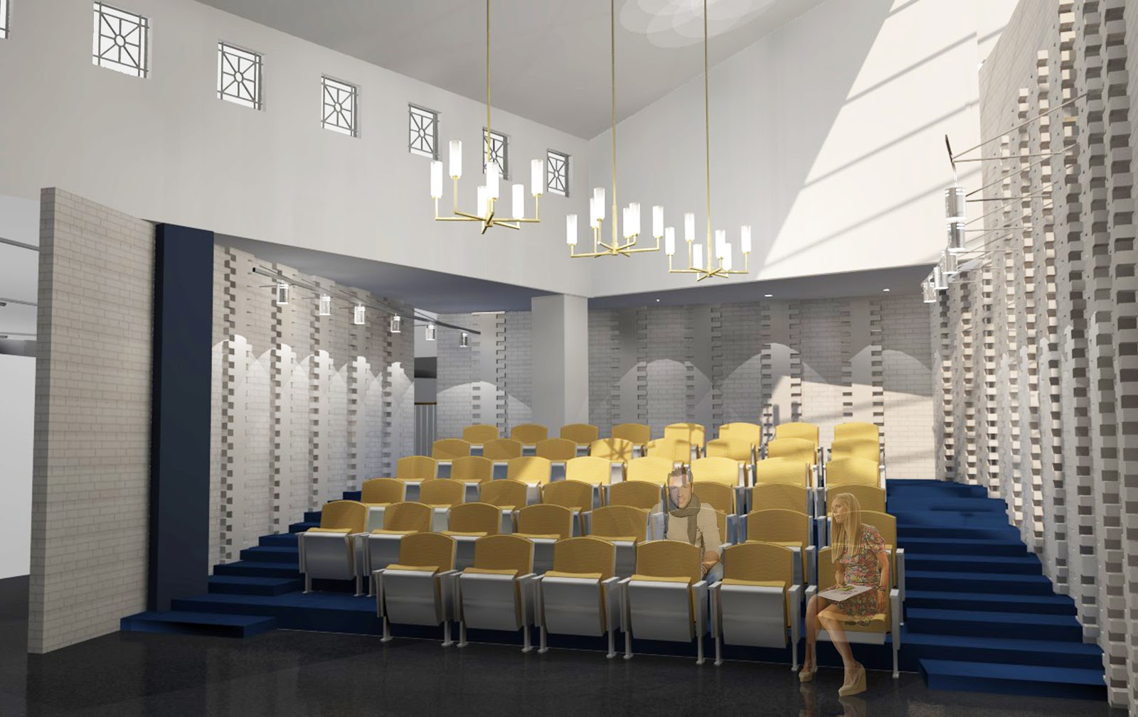 Fly By Design Updated Lecture Hall Rendering In Podium