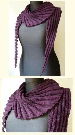Узоры для шали вязание спицами