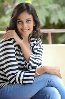 Actress Chandini Latest Pictures in Jeans at Kiraak Release Date Announcement Press Meet  0043