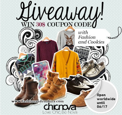$30 Chicnova giveaway on Fashion and Cookies
