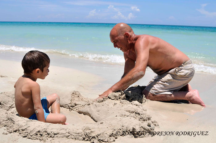 Cuba beach summer