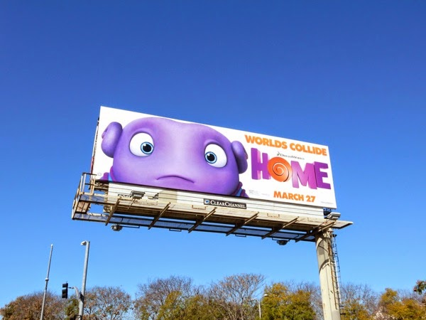 DreamWorks Animation Home movie billboard