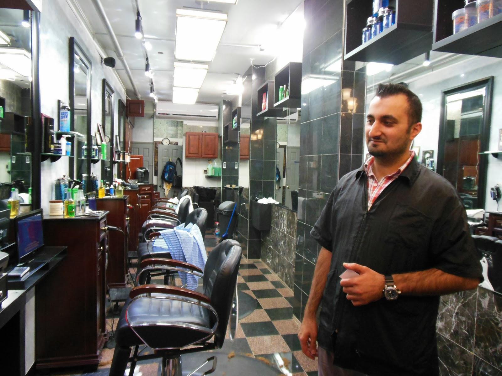 Barber In Italian : My barber in Little Italy