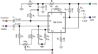 Amplitude Modulation Circuit Diagram | Only Wiring And Diagram A M Modulator Circuit Diagram