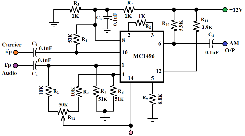 hobby in electronics  a m modulator circuit diagram