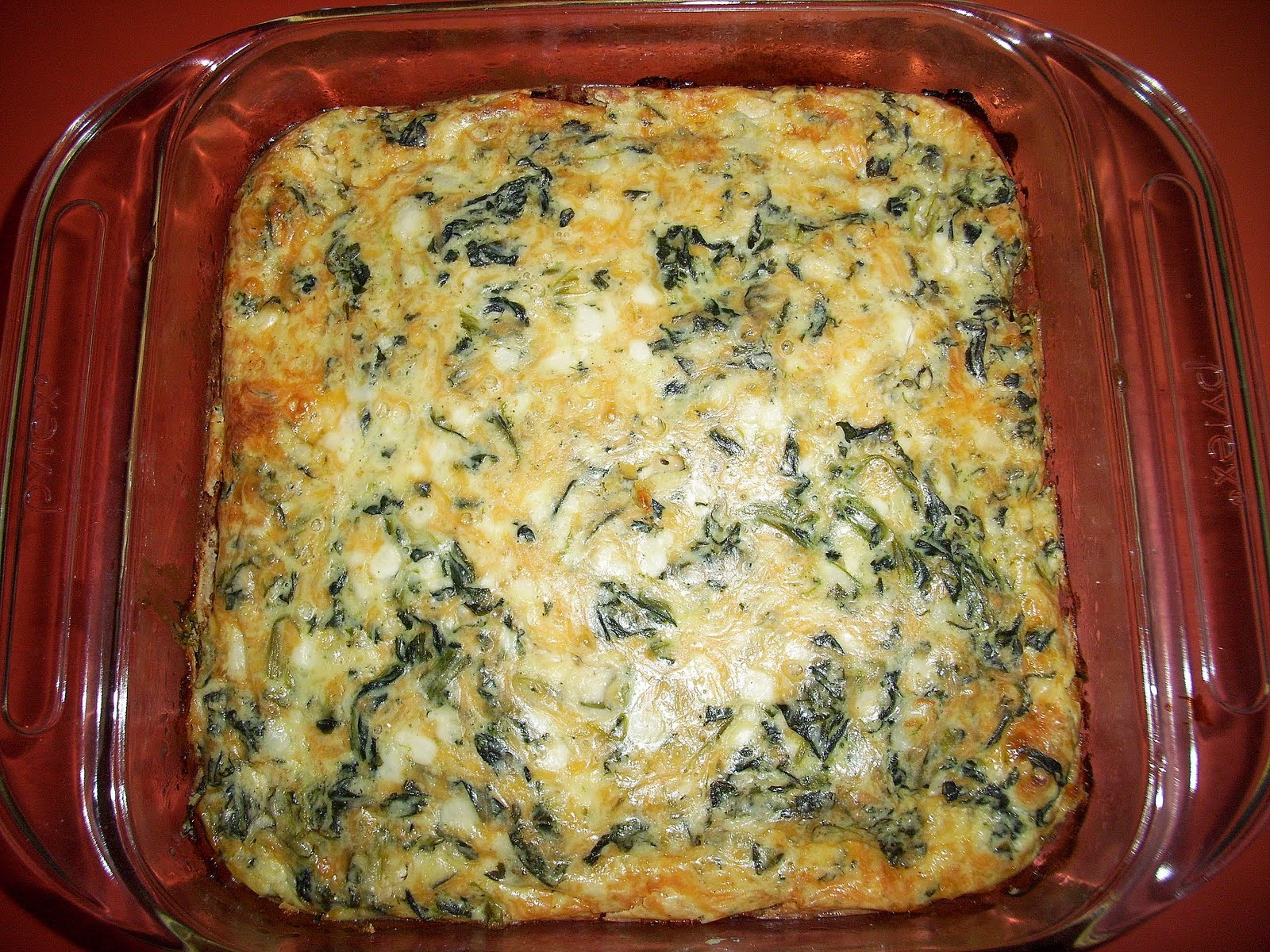 The Tote Trove: Paula Deen's Crustless Spinach Cheese Quiche