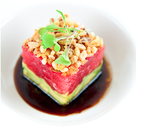 BLACKFIN TUNA TARTARE WITH AVOCADO AND SOY SAUCE DRESSING ~ Is Yummy