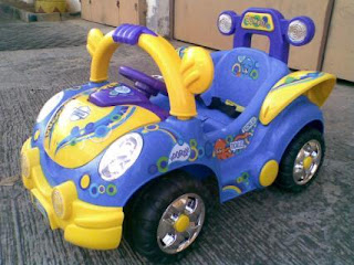 VW Mini Blue
