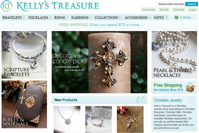 Christian Jewelry at KellysTreasure.Com